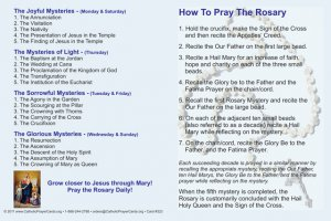 ***NEW*** How to pray the Rosary card #323