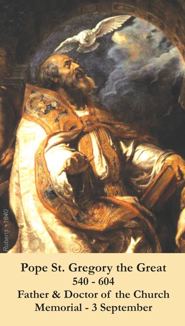 St. Gregory the Great Holy Card PC#292