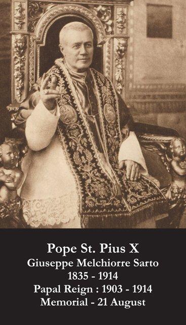 St. Pius X Holy Card PC#314