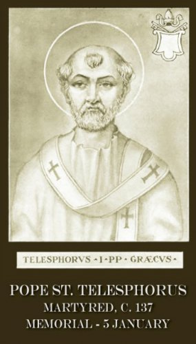 ST TELESPHORUS PRAYER CARD PC#130