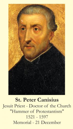 St. Peter Canisius Holy Card PC#356