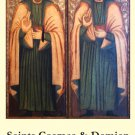 Saints Cosmas & Damien Holy Card #388