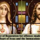 REPARATION PRAYER TO HEARTS OF JESUS & MARY PC#103LARGE