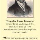 HAITIAN CREOLE - Venerable Pierre Toussaint Prayer Card #185