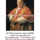 SPANISH Pope John XXIII Canonization Holy Card #465
