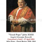 Special Limited Edition Collector's Series Commemorative Pope John XXIII Prayer Card  #192L