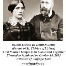 PC-533 Saints Louis and Zelie Martin Canonization Holy Card