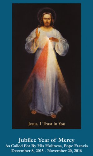 Jubilee Year of Mercy - Divine Mercy Chaplet Prayer Card #YOM-5