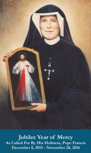 Jubilee Year of Mercy - St. Faustina Holy Card #YOM-3