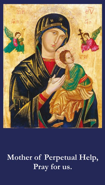 Mother Of Perpetual Help Prayer Card PC# 584