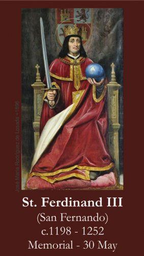 St. Ferdinand III Prayer Card PC#564