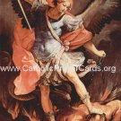 JUMBO 4x6 inches *BILINGUAL* St. Michael Prayer (Latin/English)