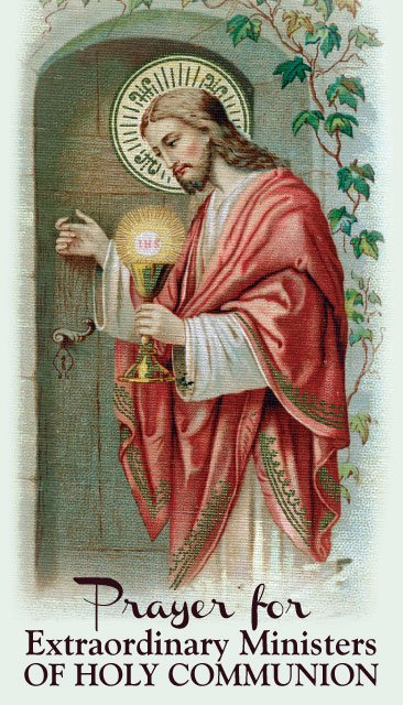 Prayer for Extraordinary Ministers of Holy Communion PC#598