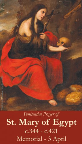 St. Mary of Egypt Prayer Card PC#371