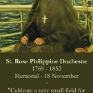 St. Rose Philippine Duchesne Prayer Card PC#395