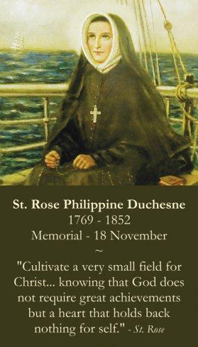 St. Rose Philippine Duchesne Prayer Card PC#395