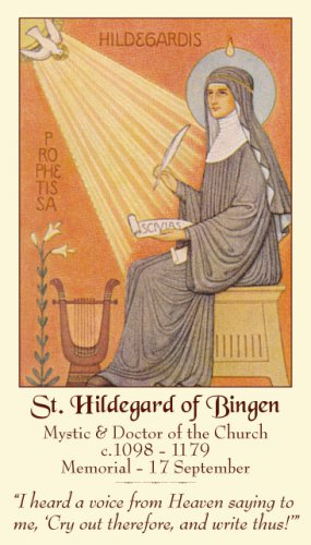 St. Hildegard of Bingen Prayer Card PC#396