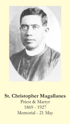 St. Christopher Magallanes Prayer Card PC#416