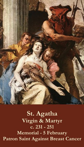 St. Agatha Prayer Card PC#417