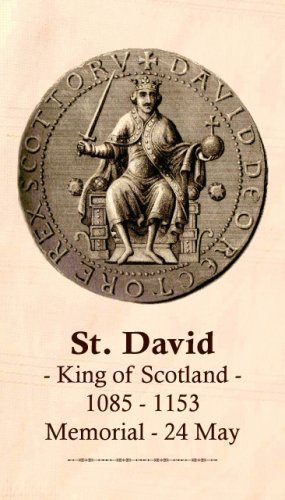 St. David (King of Scotland) Prayer Card PC#421