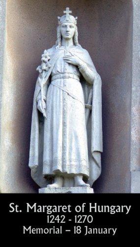 St. Margaret of Hungary Prayer Card PC#422