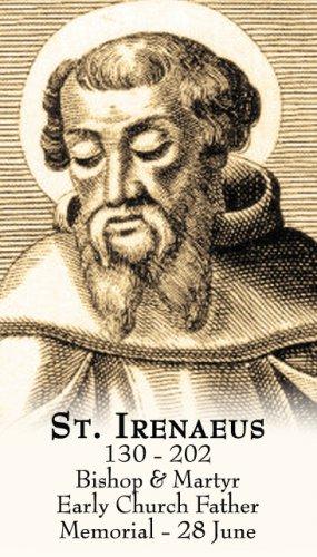 St. Irenaeus Prayer Card PC#430