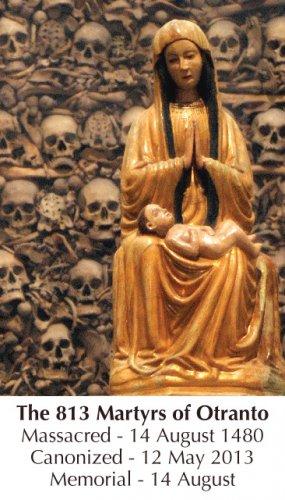 813 Martyrs of Otranto Prayer Card PC#440
