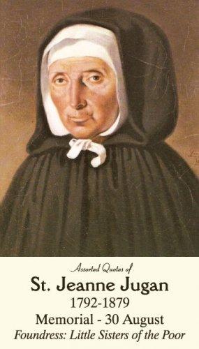 St. Jeanne Jugan Prayer Card PC#616