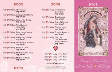 Litany of the Holy Heart of Mary LIT#3
