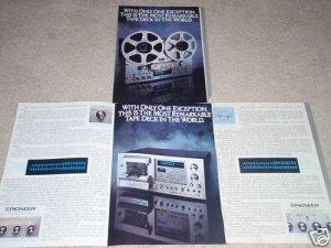 Pioneer RT-909 Open Reel,CT-F1250 Casette,4 pgs,specs