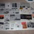 CARVER Ad Archive CD with 26 Ads,brochures,RARE ONES!