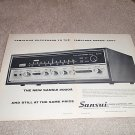Sansui 2000a Receiver Ad from 1970, 2 pages, NICE!