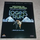 Logan's Run Laserdisc Ad, 1997, Frame This Ad,Rare,Mint