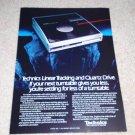 Technics SL-J2 Linear Tracking Turntable Ad, 1985