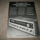 Pioneer SX-828 Receiver AD from 1973