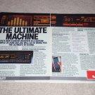 JVC R-X500b Receiver Ad, 2 pgs, specs, Beautiful! 1984