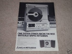 Mitsubishi Vertical Turntable Ad,1979,X-10,like LT-5v