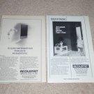 "Acoustat Speaker ADs-2,1982, 6""x9"" 2+2 Ad,Electrostatic"