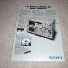 Sony TC-k65,k55II Cassette Deck Ad 1975, beautiful!
