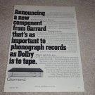Garrard Music Recovery Module Ad, 1978, RARE!
