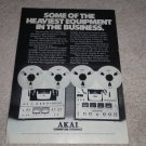 Akai Open Reel Ad, 1975, GX-650D, 630DSS, Article