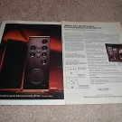 Polk SDA SRS 2.3,1.2 Article,Ad from 1989 2 pages