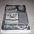 Concord 884 Open Reel Deck Ad from 1962