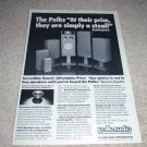 Polk tri-laminate driver AD from 1981, entire line!