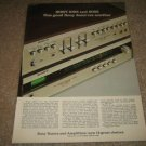 Sony 1055 and 5055 Amp/Tuner Ad from 1973,color,specs