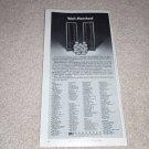 "Magnepan Magneplanars MG-II Speaker Ad,6""x11""  1978"