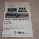 McIntosh Ad, 1966, MR71,275,C24, M1-3 Amp, Pre, Tuner