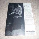 Klipsch Kg4 Speaker Ad from 1989