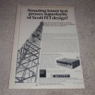 Scott 342 Receiver Ad, 1966, Specs,Article, Rare Ad!