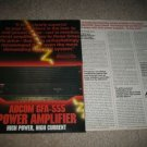 Adcom GFA-555 Amp Ad,2 pages,article 1987